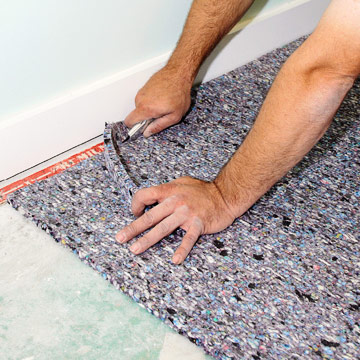 Basement Carpet Padding Repair - Carpet - Conway, Arkansas